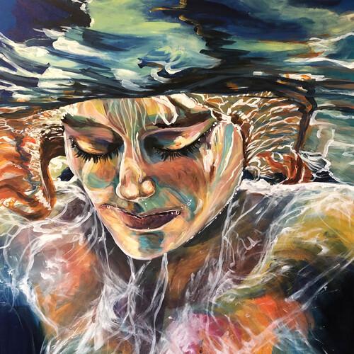 """Acryl auf Holz Thema """"Unterwasser"""" 110x80 und 80x80"""