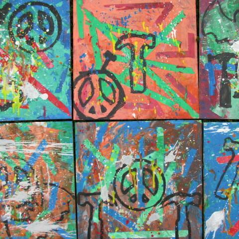 Jackson Pollock: Graffiti mit Schablone