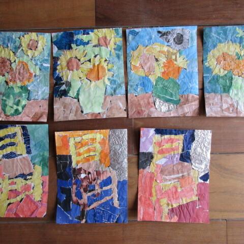 Schulaktion: Collage nach Vincent van Gogh
