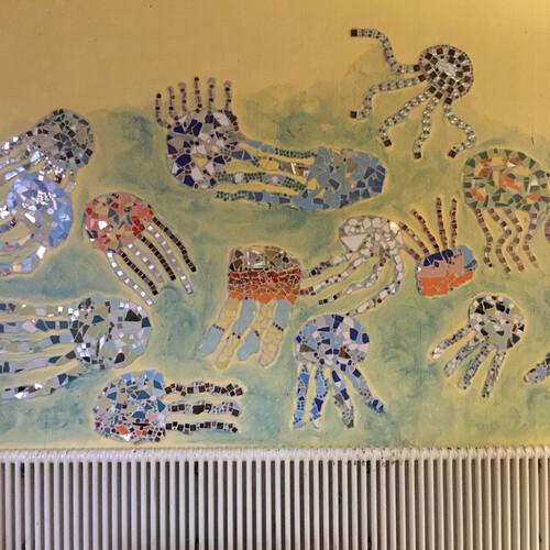 Wandmosaik Würmtalschule Merklingen Klasse 4