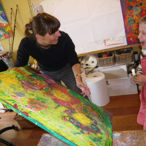 Eltern-Kind-Malerei