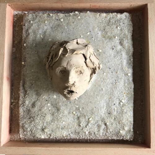 Beton-Sand im Holzrahmen 20x20