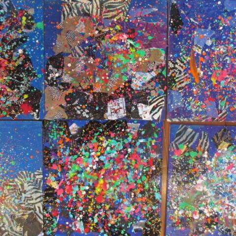Jackson Pollock: Collage und Spritztechnik