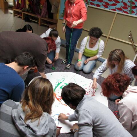Pädagogischer Tag in der Kita: Alte Techniken neu inszeniert