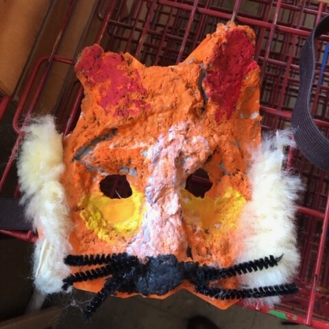 Aktion in der Kita: Masken