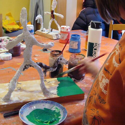 Alberto Giacometti: Tischskulptur aus Draht und Gipsbinde