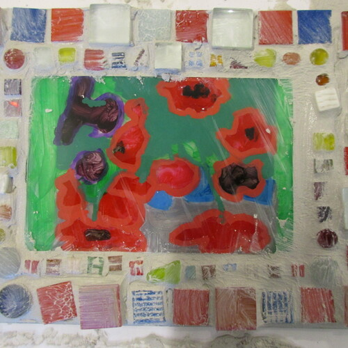 Niki de Saint Phalle: Glasmosaik fürs Fenster