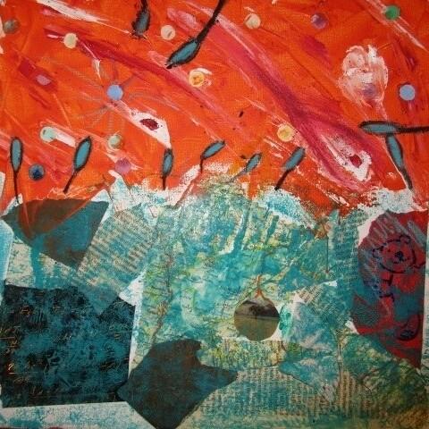 Franz Marc: Collage und Ölkreide