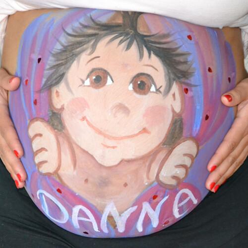 Kunst am Bauch