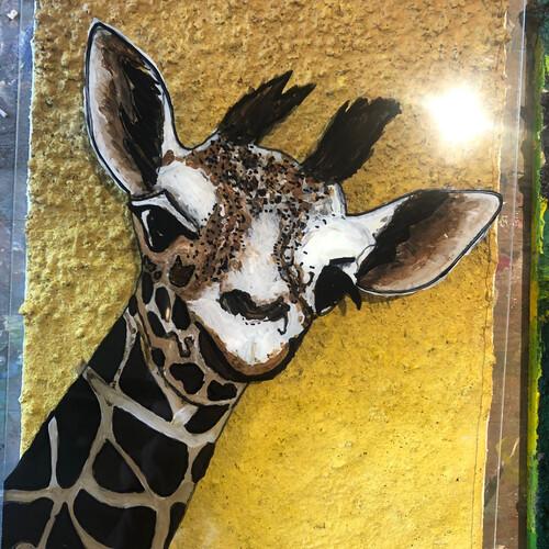 Glasmalen: Acryl auf Polystyrol 3D: Tiere