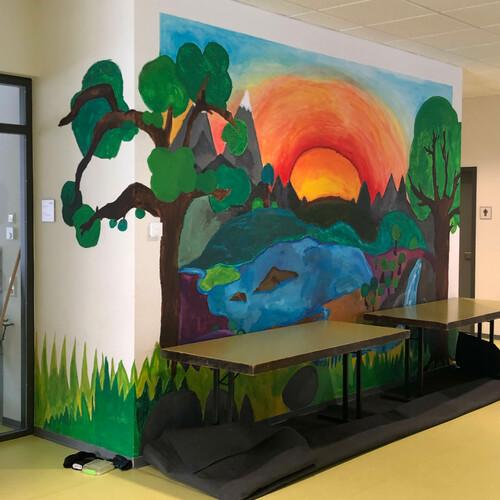 Schulprojekt: Wandmalerei